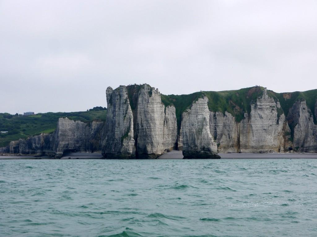sedimentlagen in de krijtrotsen bij Dieppe