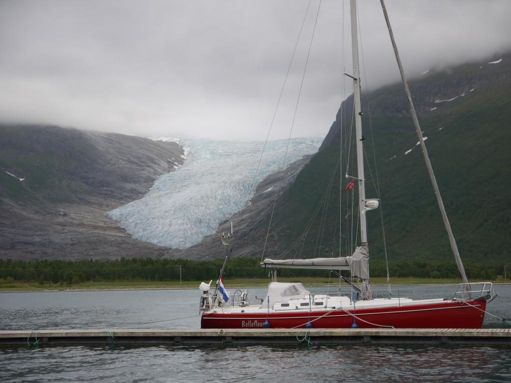 Bellefleur voor de Svartisen gletsjer