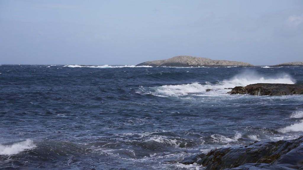 De zee bij Villa met windkracht 7