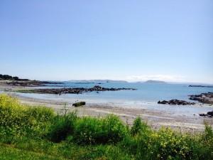 Strand noordkust Guernsey