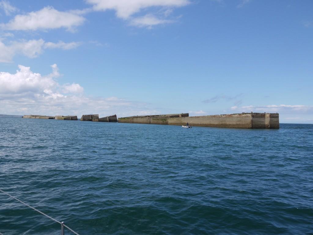 Caissonhaven Arromanche, gemaakt na D-Day