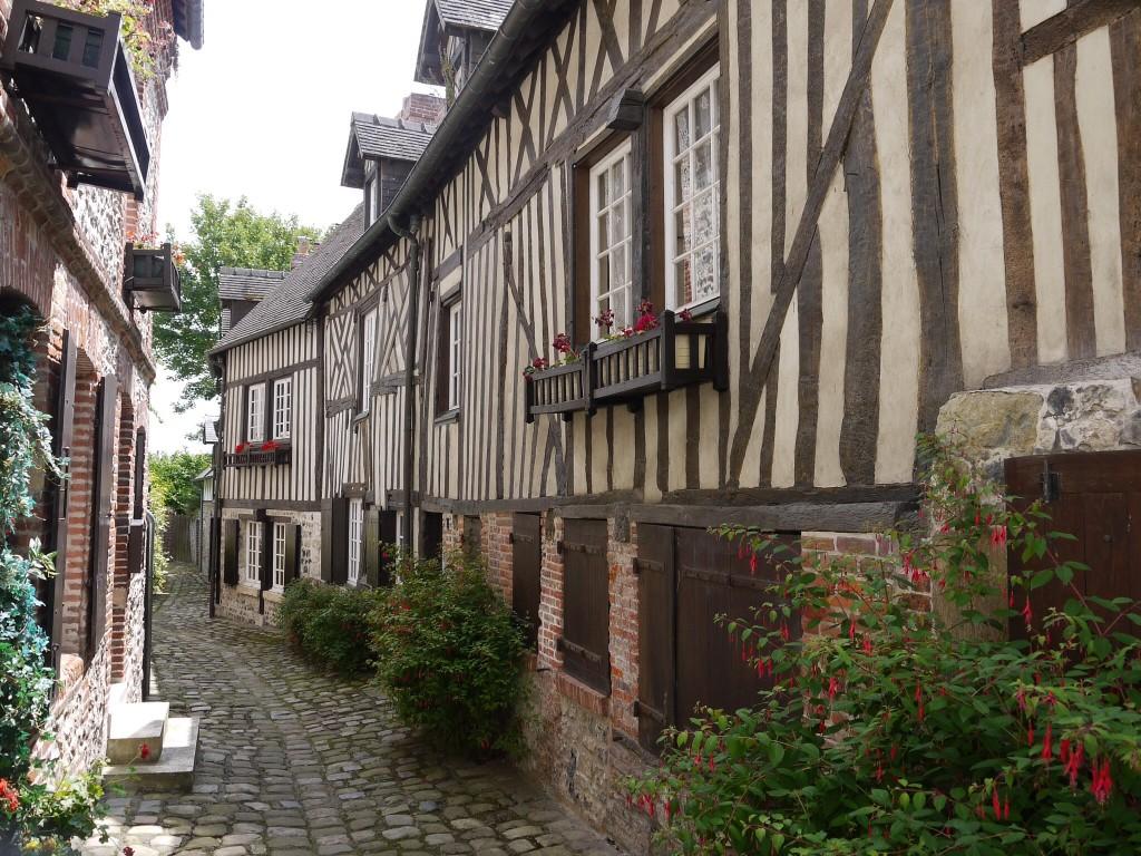 Straatbeeld in Honfleur